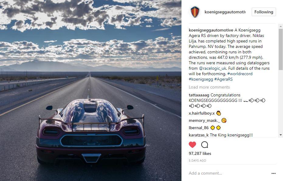 @koenigseggautomotive on instagram