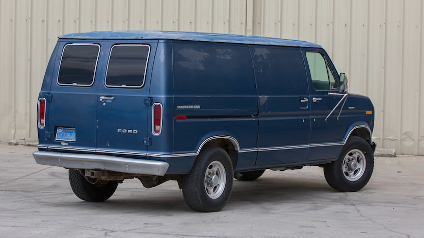 1977 Ford Econoline Van rear 3/4