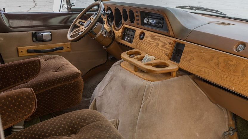 1978 Dodge B200 Van interior