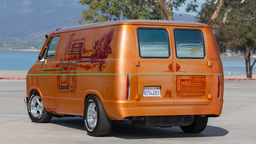 1984 Dodge Custom Van rear 3/4
