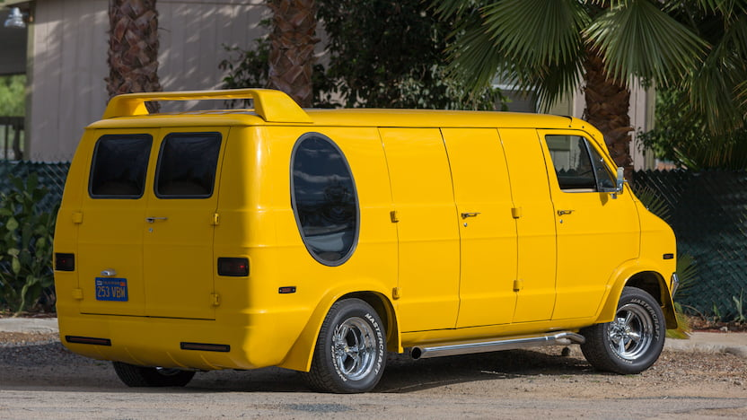 1977 Dodge Custom Van rear 3/4