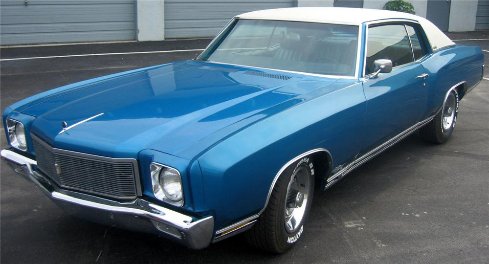 1971 Chevrolet Monte Carlo SS 454 front 3/4