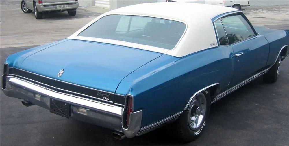 1971 Chevrolet Monte Carlo SS 454 rear 3/4