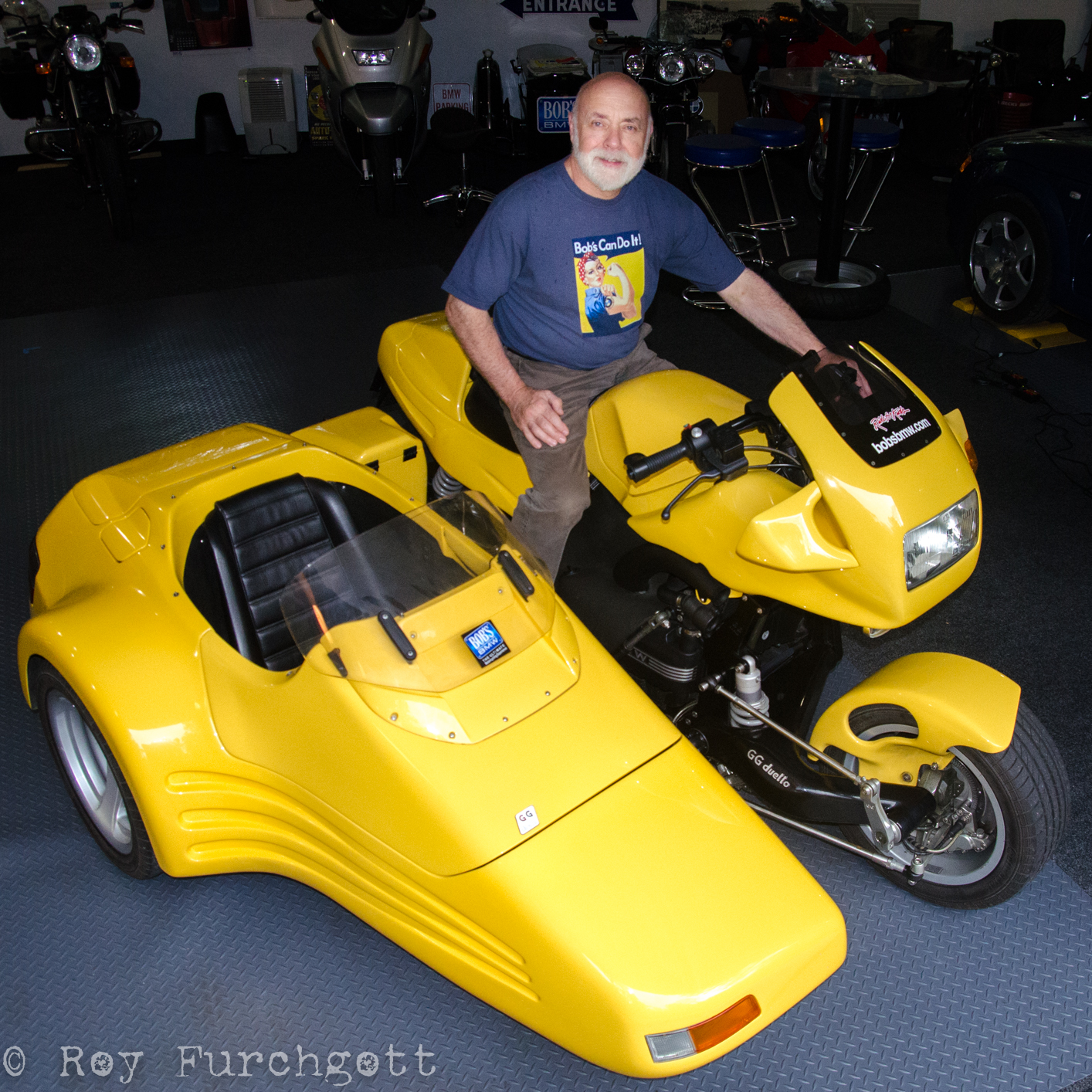 Bob Henig, proud owner of a rare Duetto GG.