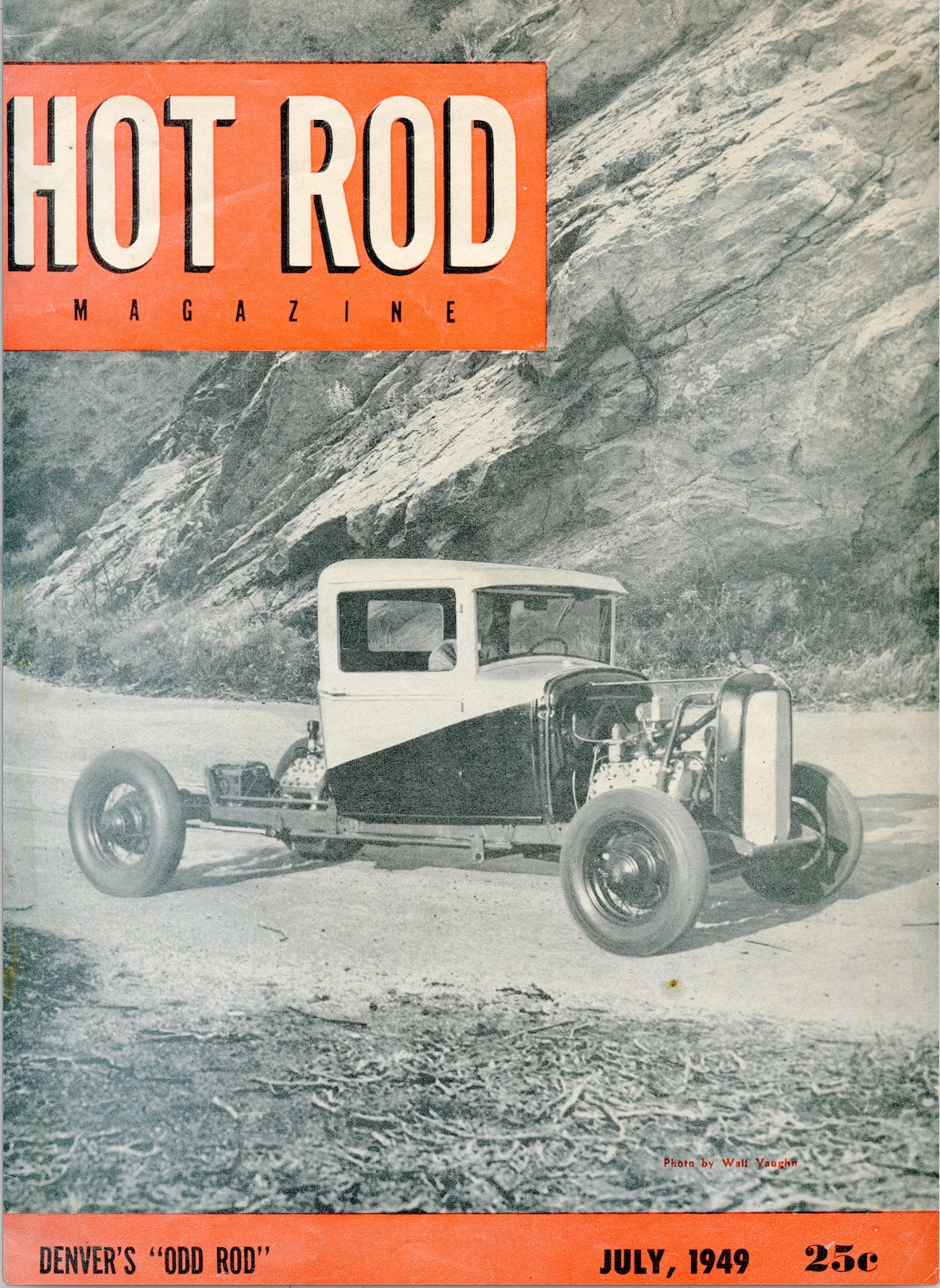 Odd Rod Hot Rod Magazine cover July 1949