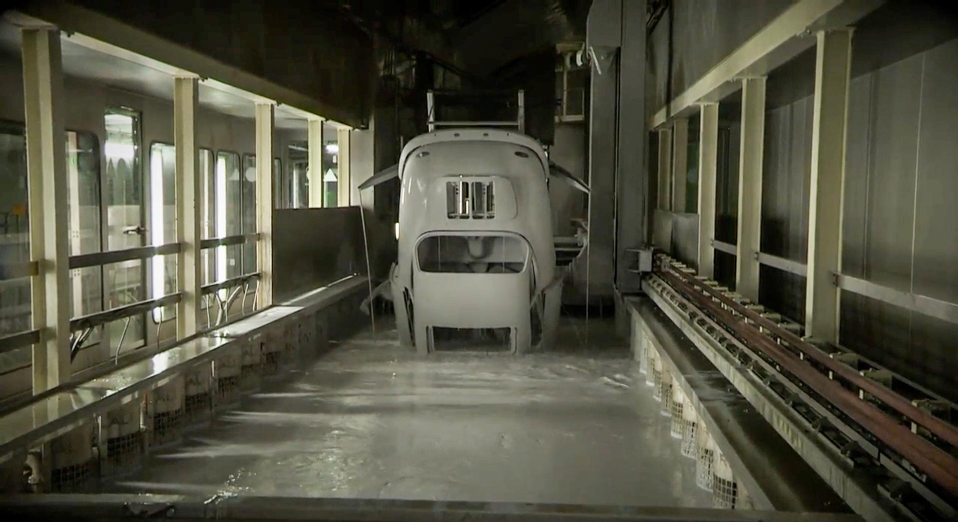 Watch a vintage Porsche take a bath thumbnail