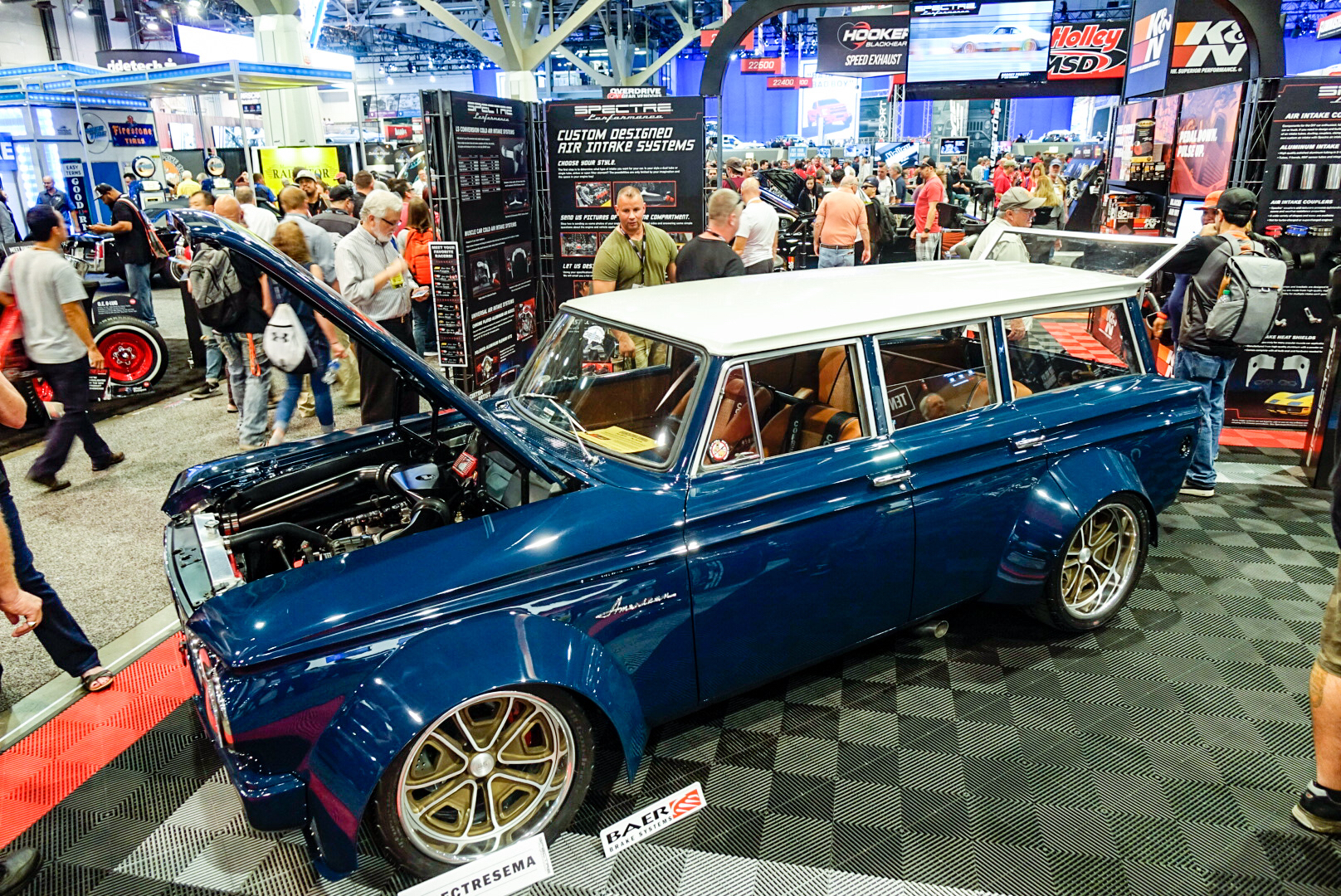 Bauter's 1963 wide-body AMC Rambler American 220 Wagon front 3/4