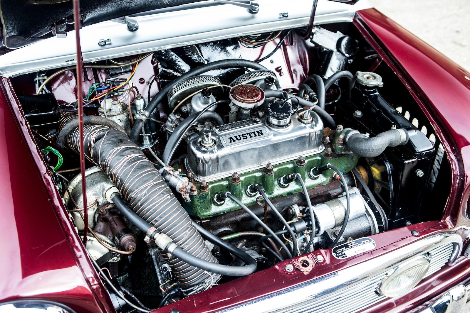 1966 Austin Mini Cooper S engine