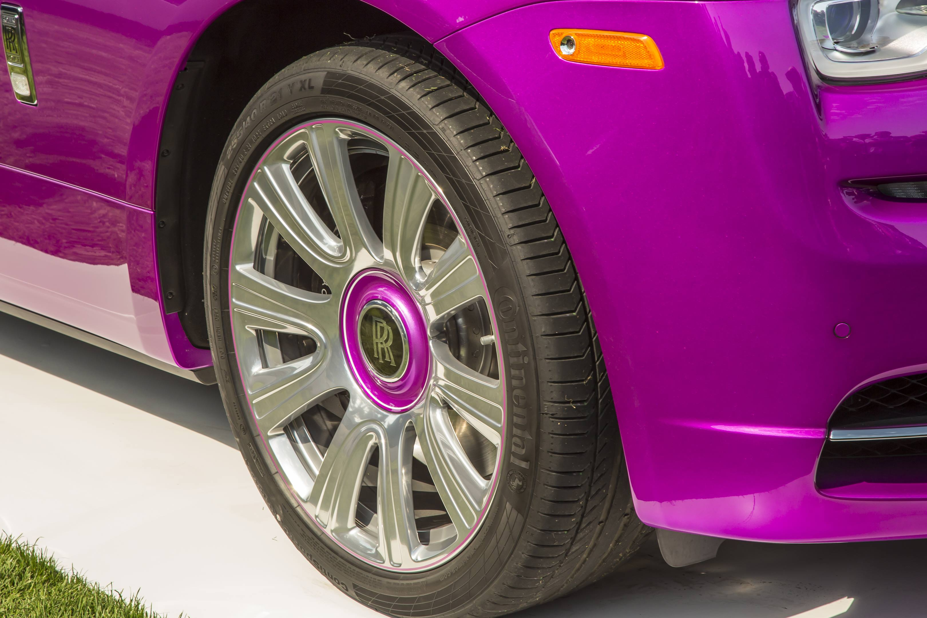 Michael Fux's Rolls-Royce Dawn convertible wheel detail