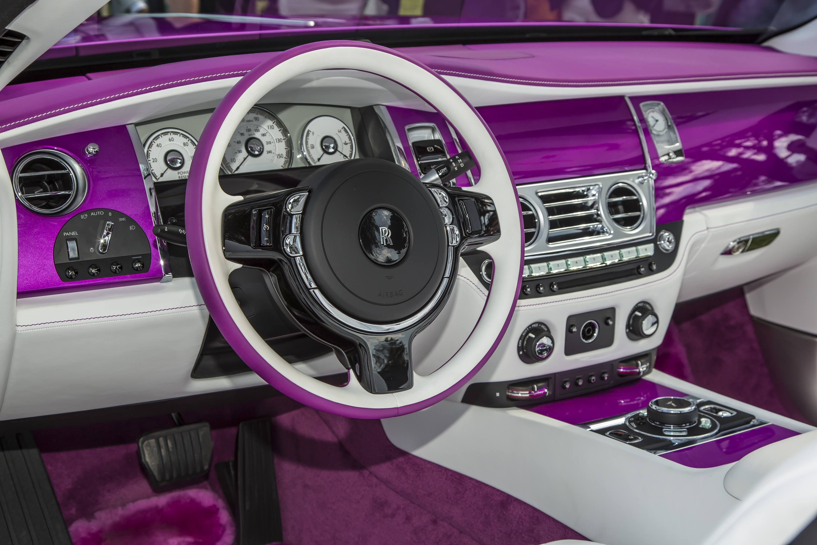 Michael Fux's Rolls-Royce Dawn convertible dash