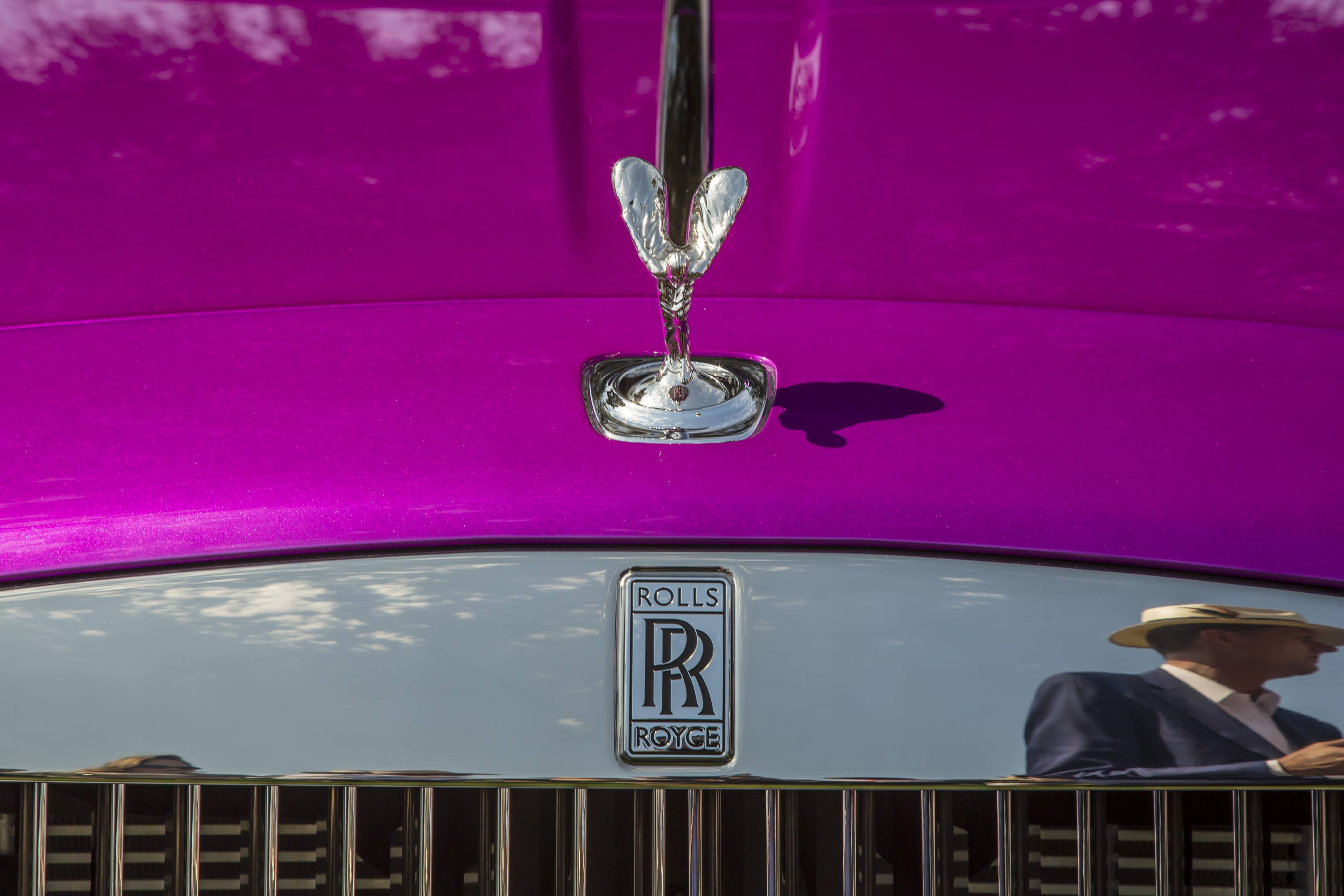 Michael Fux's Rolls-Royce Dawn convertible hood ornament