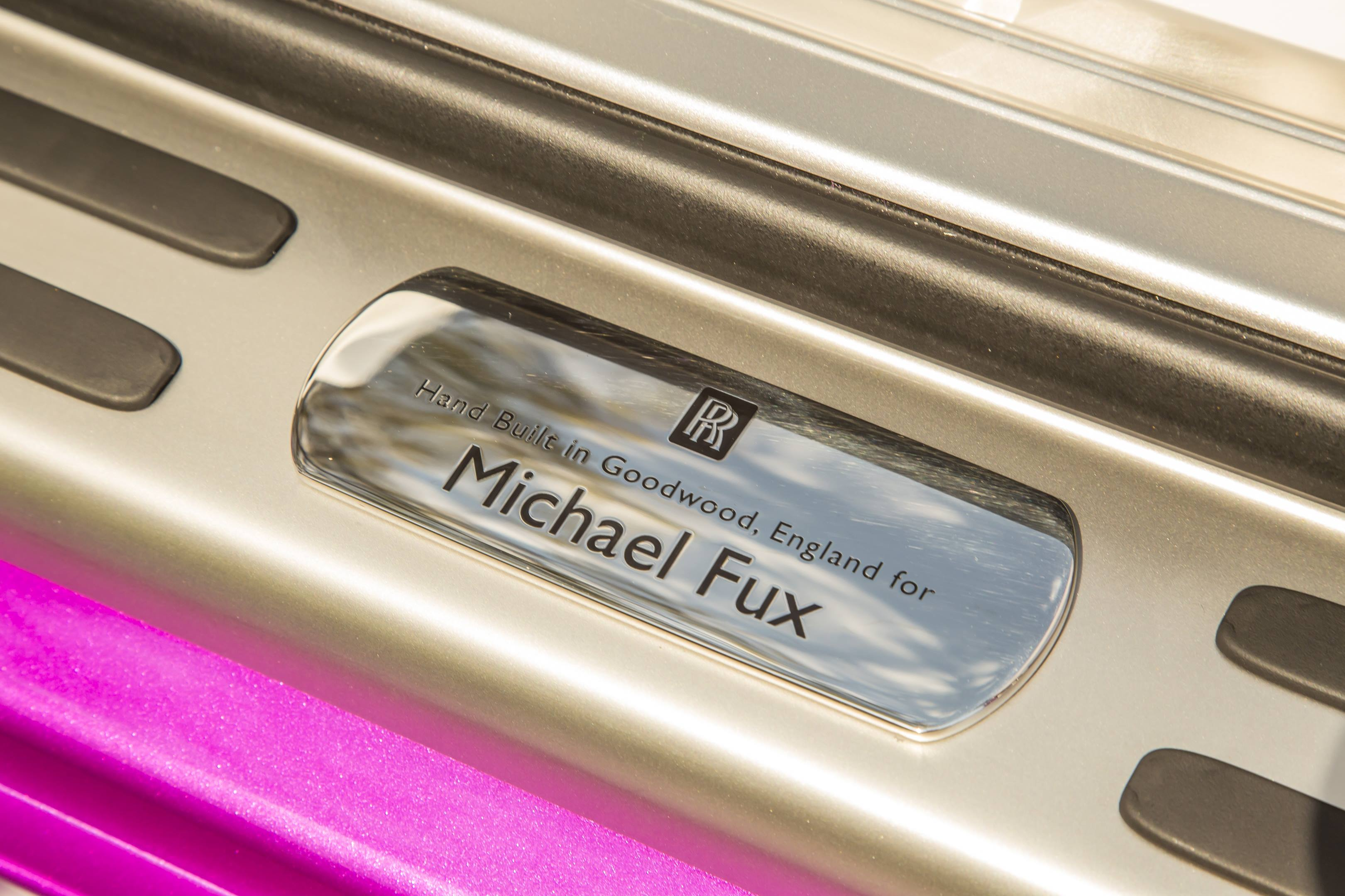 Michael Fux's Rolls-Royce Dawn convertible plaque