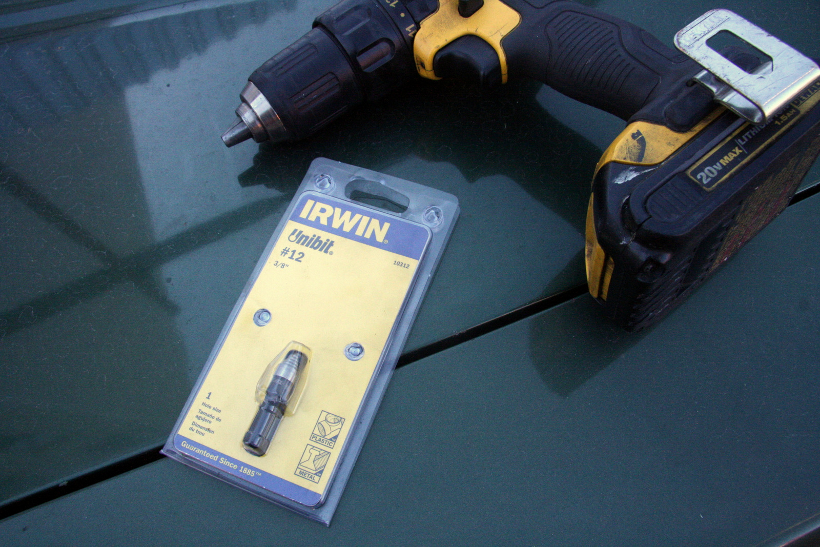 Carwell recommends an Irwin 3/8-inch #12 step bit for drilling access holes in doors and rocker panels, and supplies plastic plugs that fit perfectly into the holes.