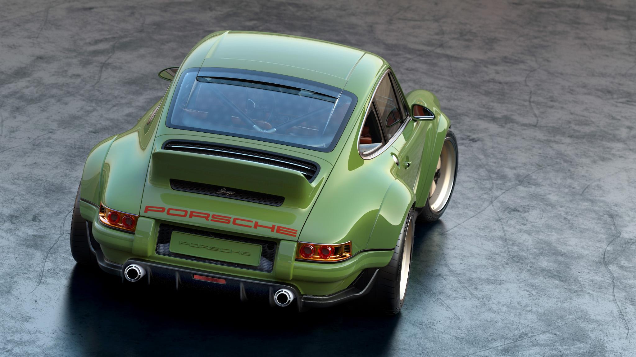 1990 Porsche 911 rear 3/4 high