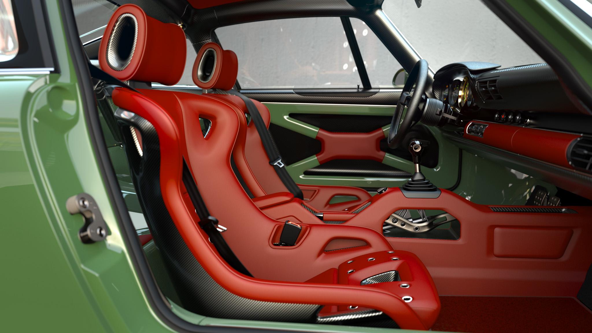 1990 Porsche 911 interior right door straight