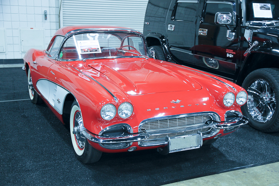 corvette fuel injection chevrolet red 1961 auction worldwide