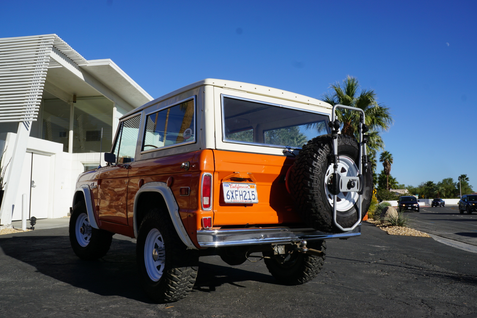 1974 Ford Bronco rear three quarter orange