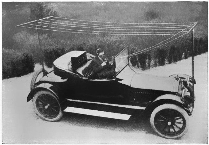 Amateur Radio installed in car 1919