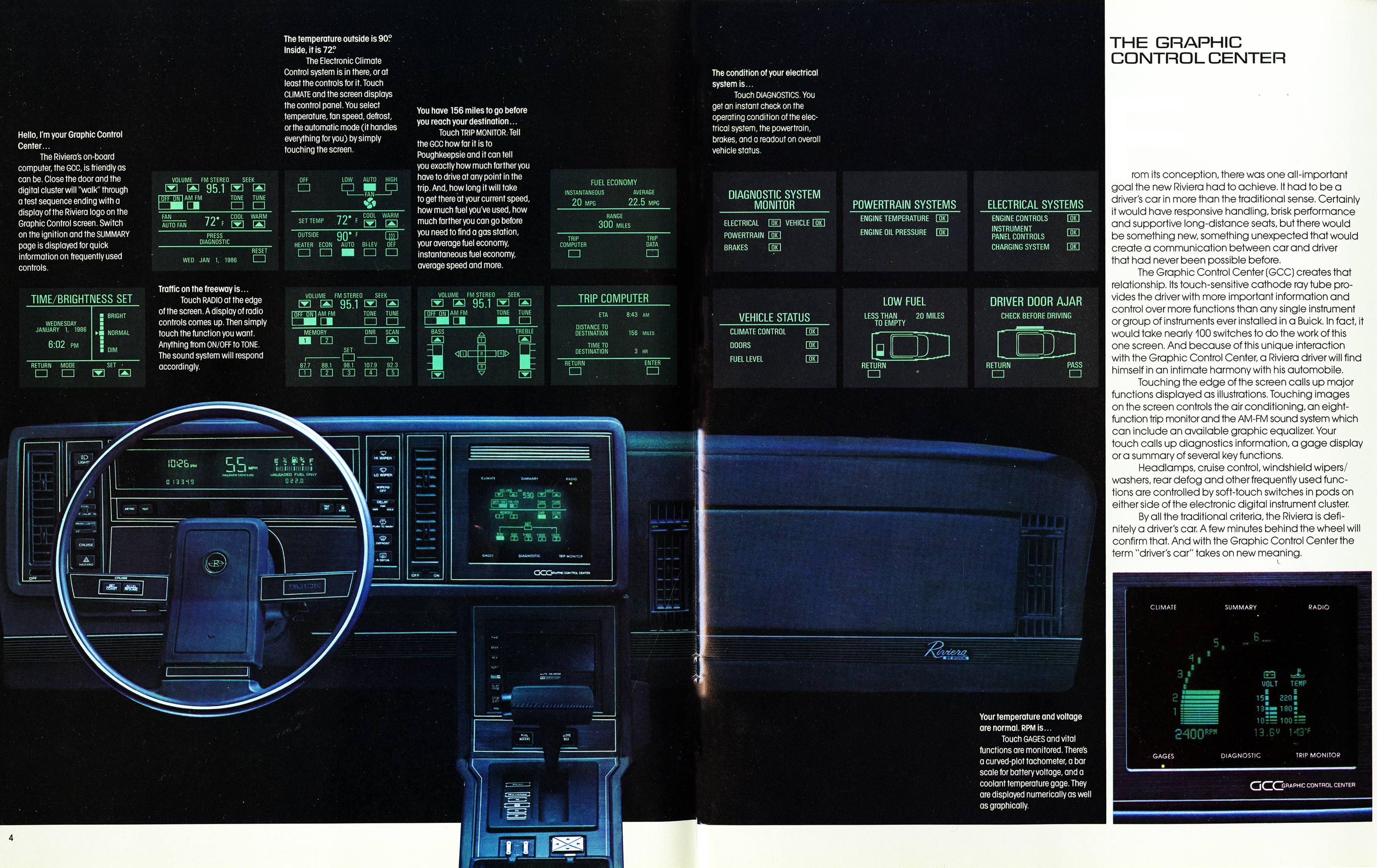 1986 Buick Riviera GCC Touchscreen brochure