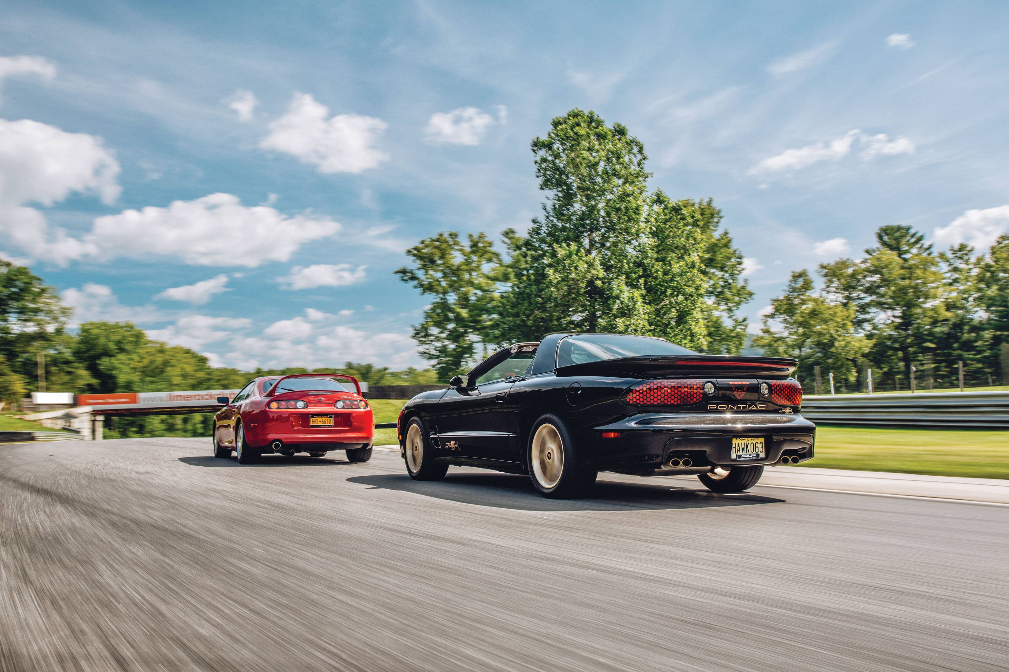 Toyota Supra Turbo and Pontiac Firebird Firehawk