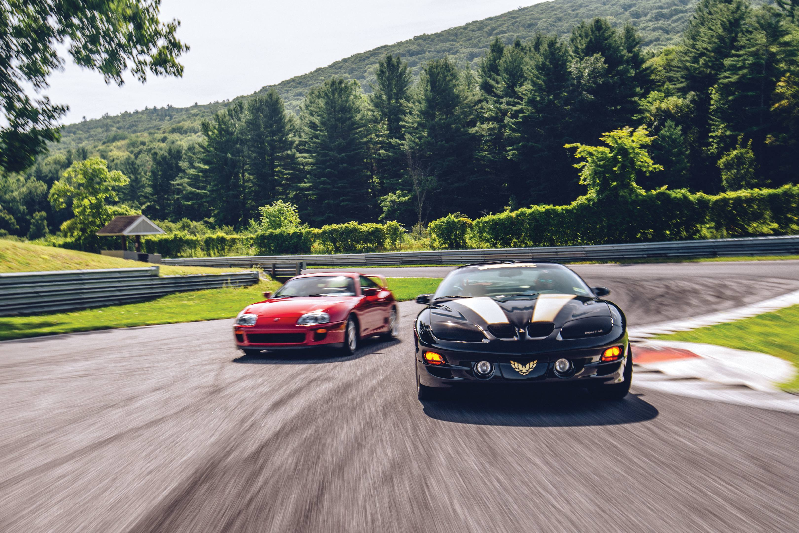 Pontiac Firebird Firehawk and Toyota Supra Turbo
