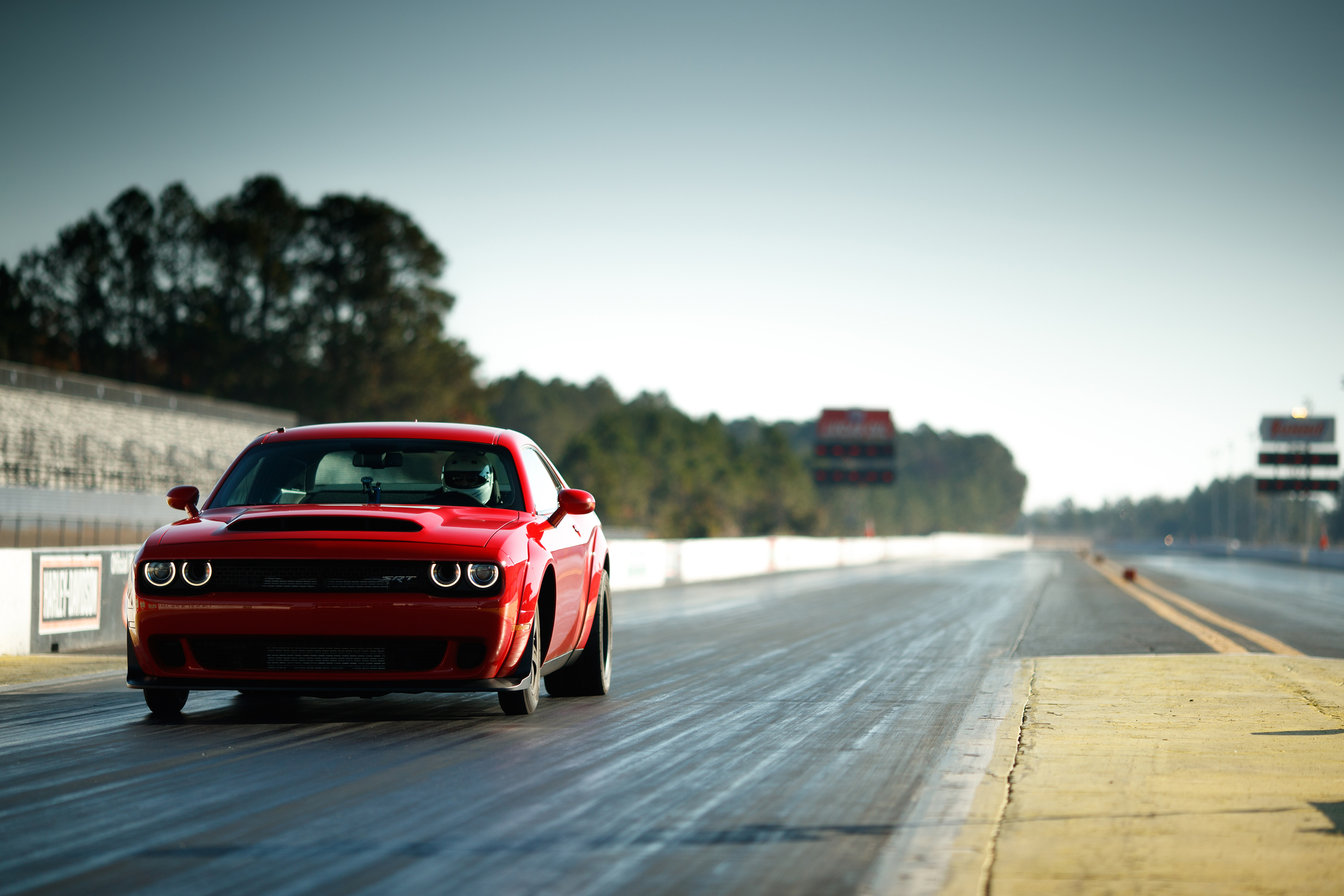 2018 Dodge Challenger SRT Demon on the track