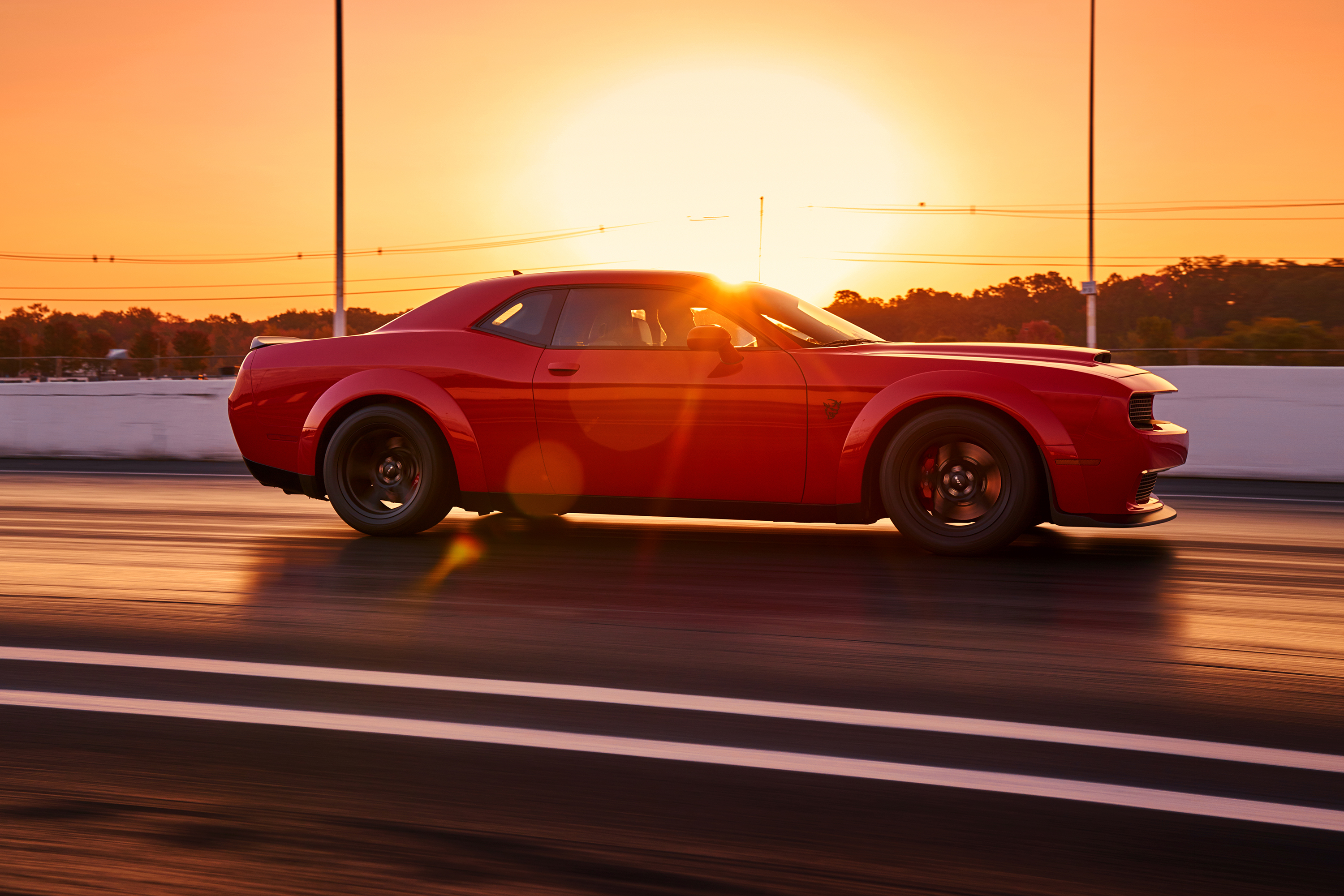 2018 Dodge Challenger SRT Demon at sunset