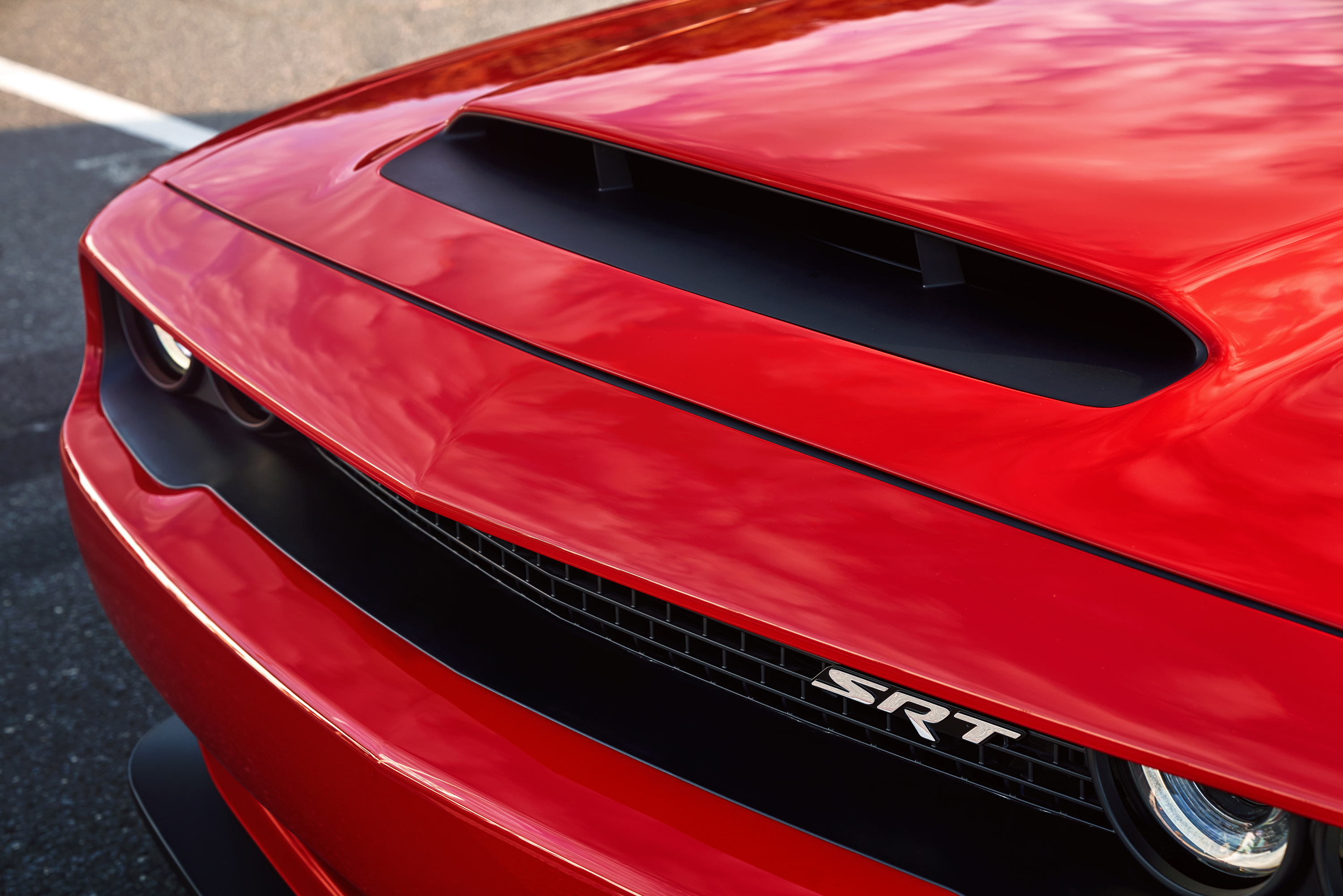 2018 Dodge Challenger SRT Demon hood