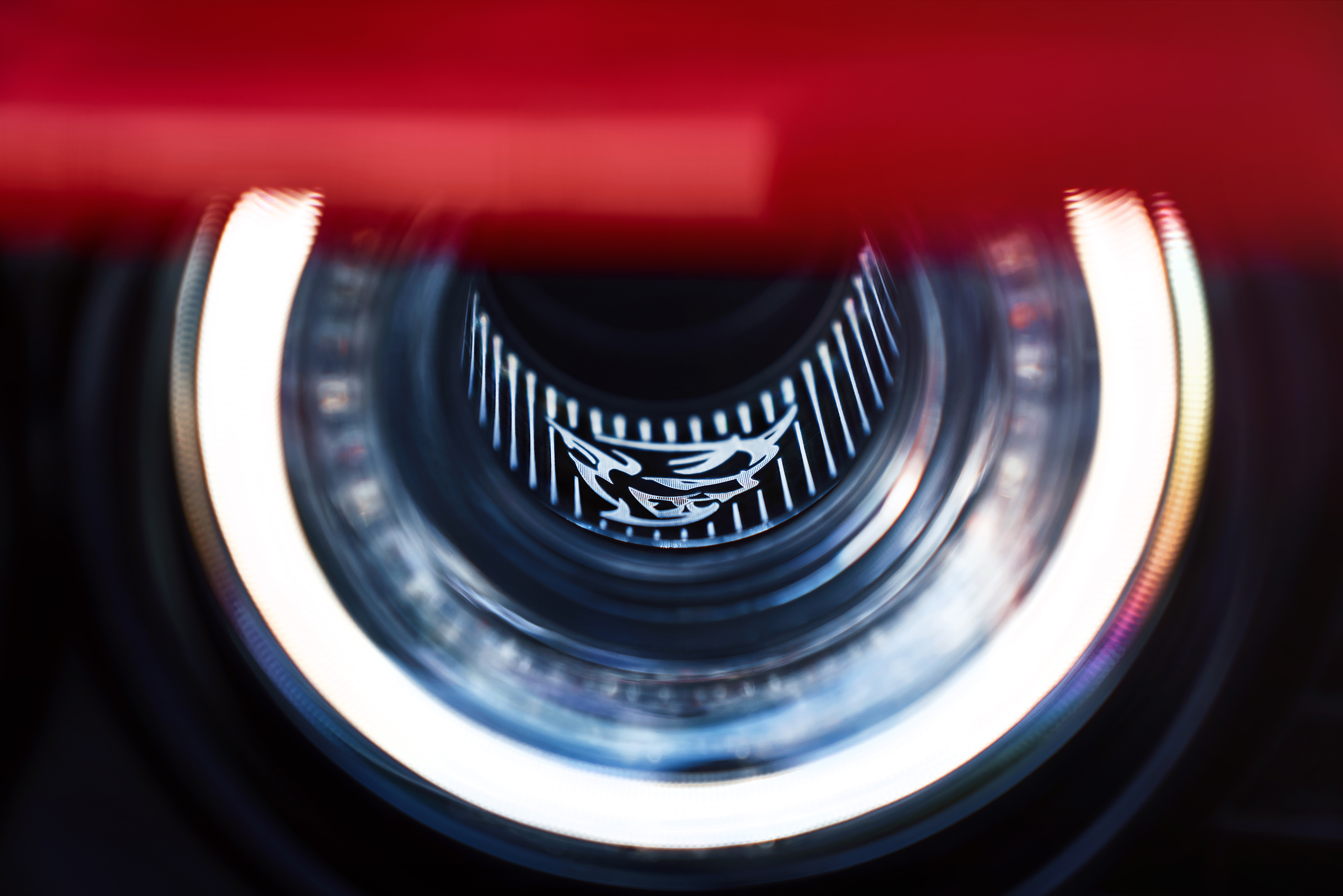 2018 Dodge Challenger SRT Demon headlight detail