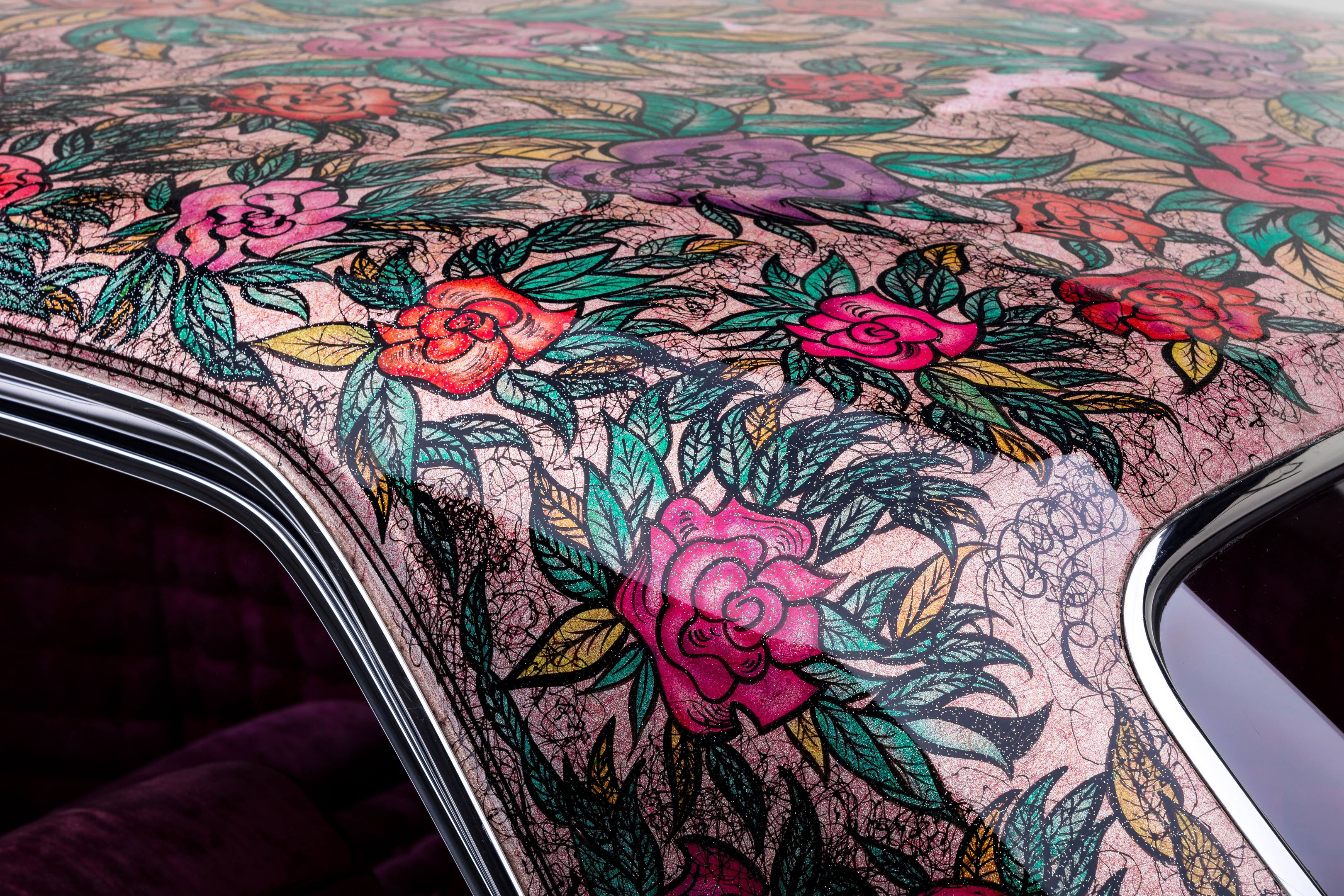 Gypsy Rose painted roof