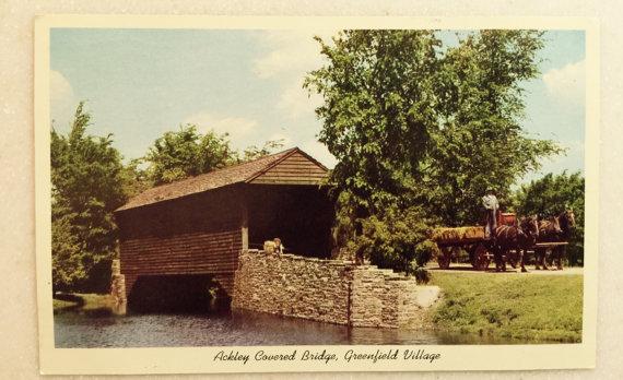 Ackley Covered bridge at the Edison Institute
