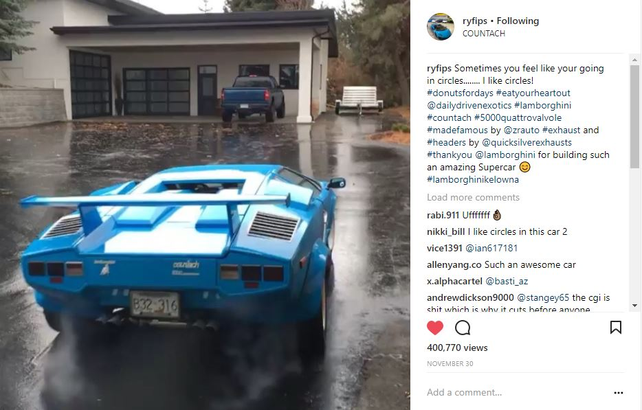 @ryfips Countach donuts