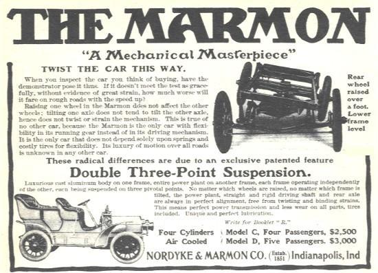 Marmon 1906 Mechanical Maserpiece ad