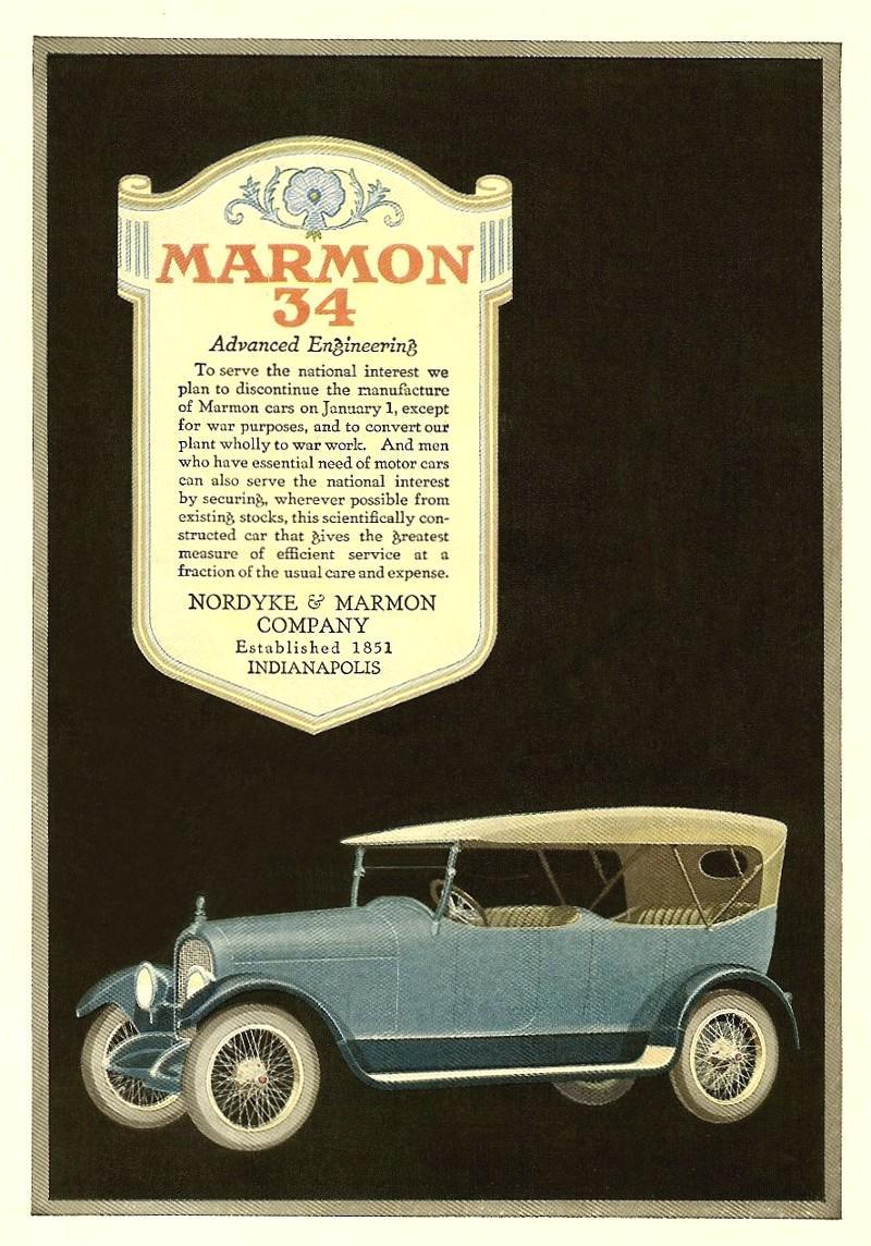 Marmon 34 - Advanced Engineering 1918 ad