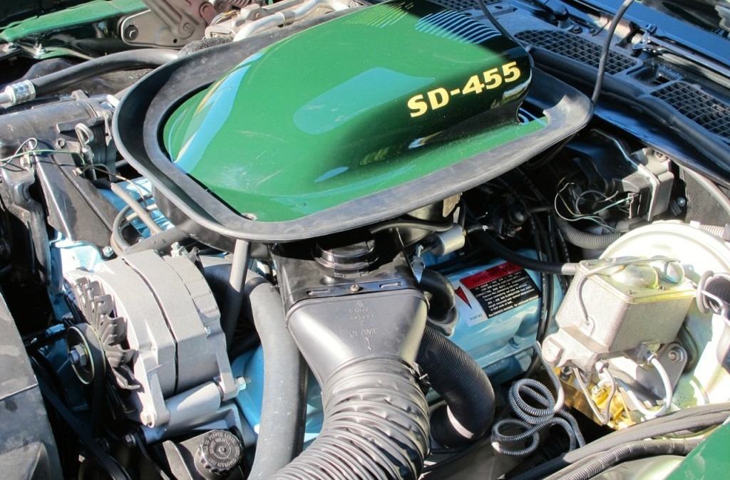 1973 pontiac trans am super duty sd 455 green engine intake