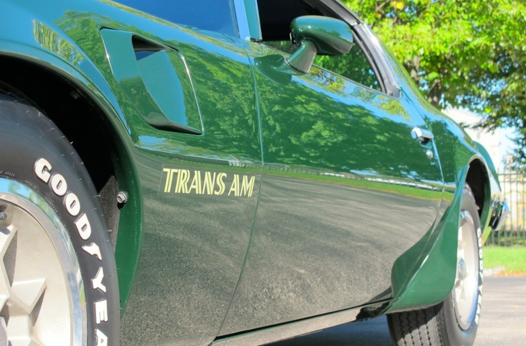 1973 pontiac trans am super duty sd 455 green side fender vent