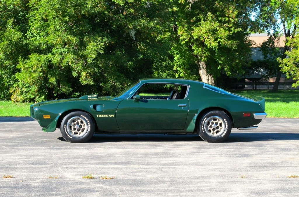 1973 pontiac trans am super duty sd 455 green side profile