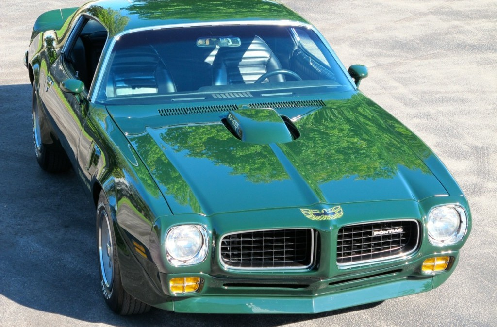 1973 pontiac trans am super duty sd 455 green hood