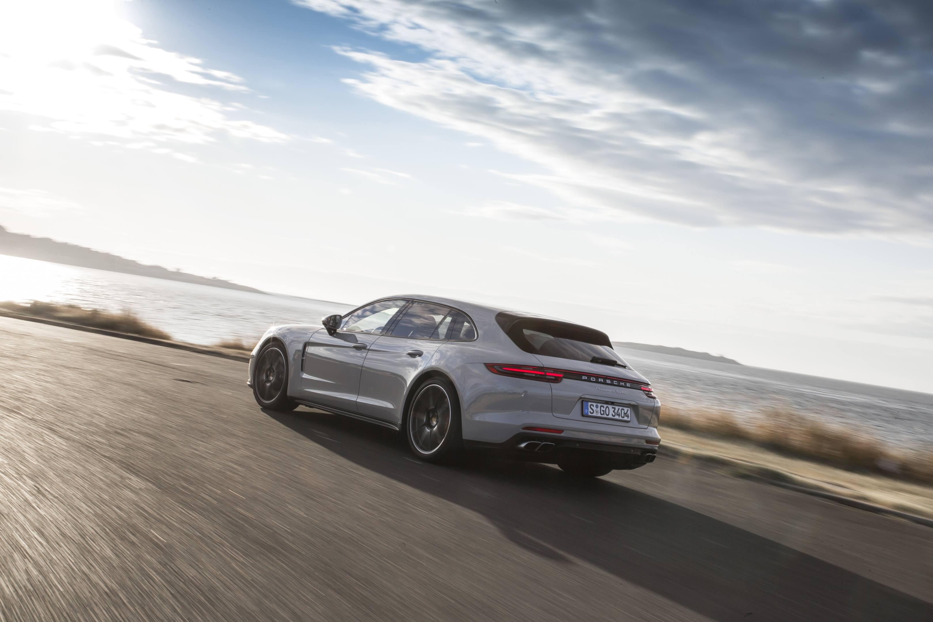 2018 Porsche Panamera Turbo Sport Turismo rear 3/4