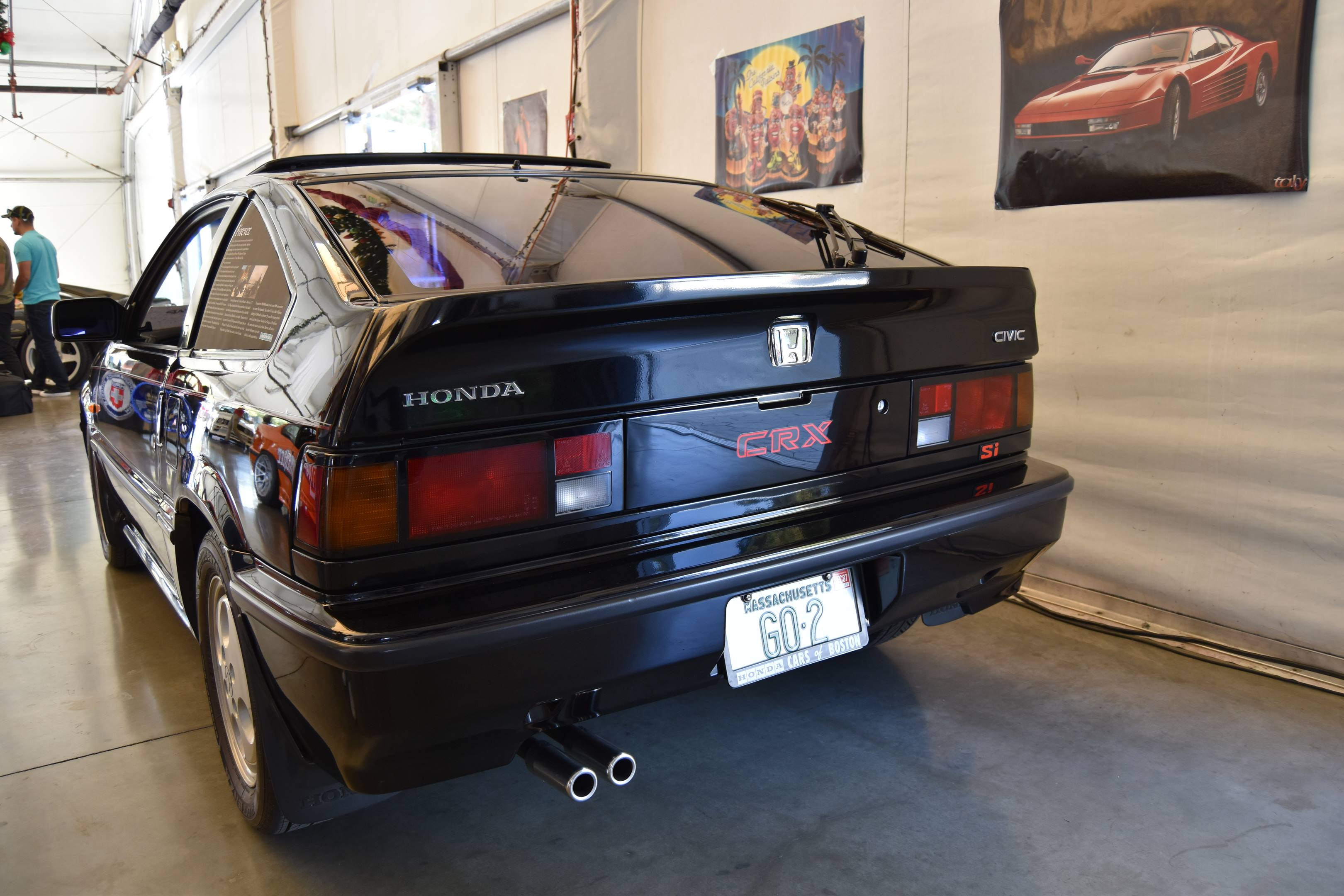 1987 Honda Civic CRX Si rear