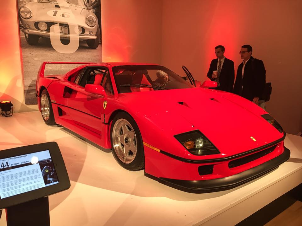 This 1990 Ferrari F40, sold for $1,125,000 at the hammer