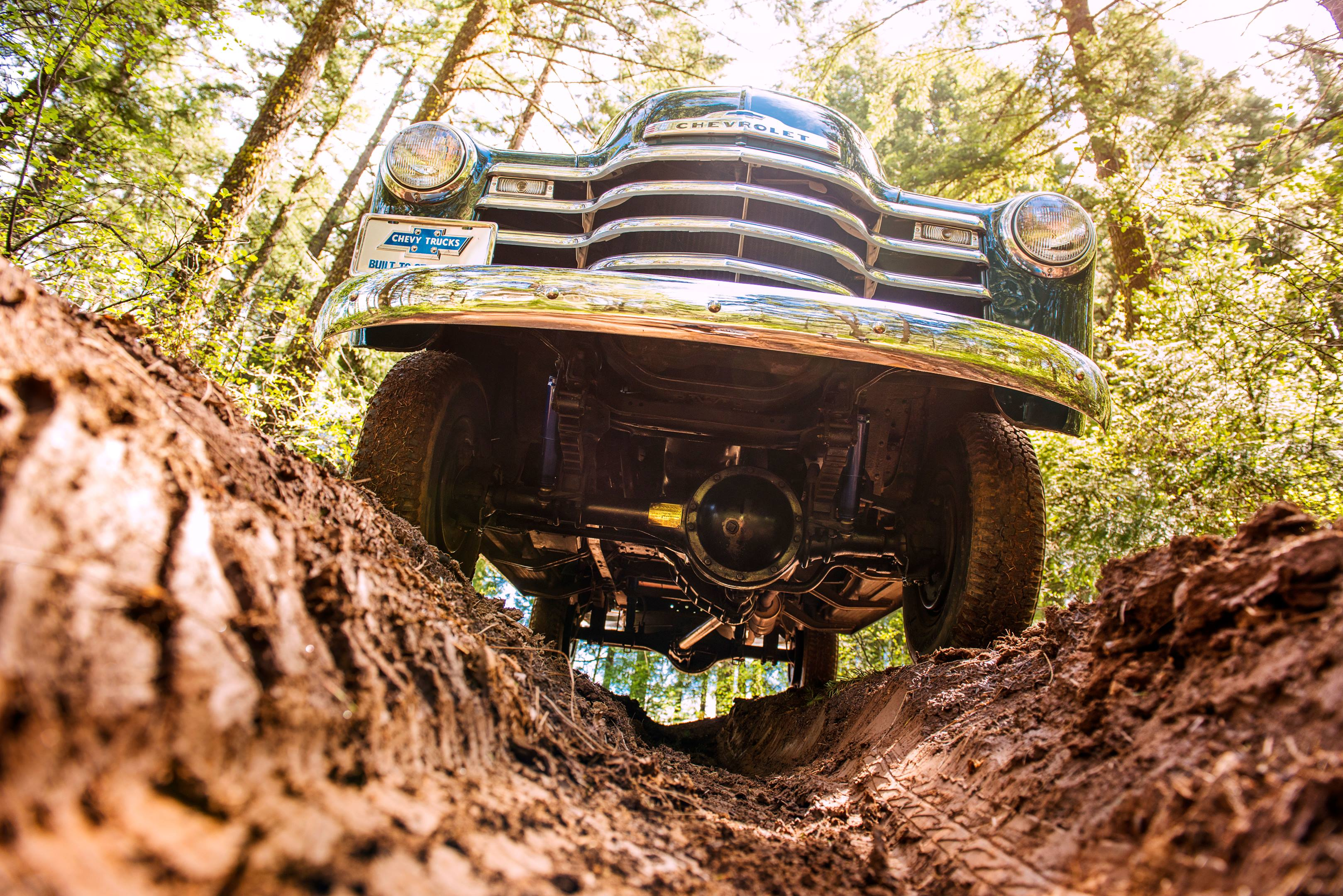 classic Chevrolet Truck on a trail