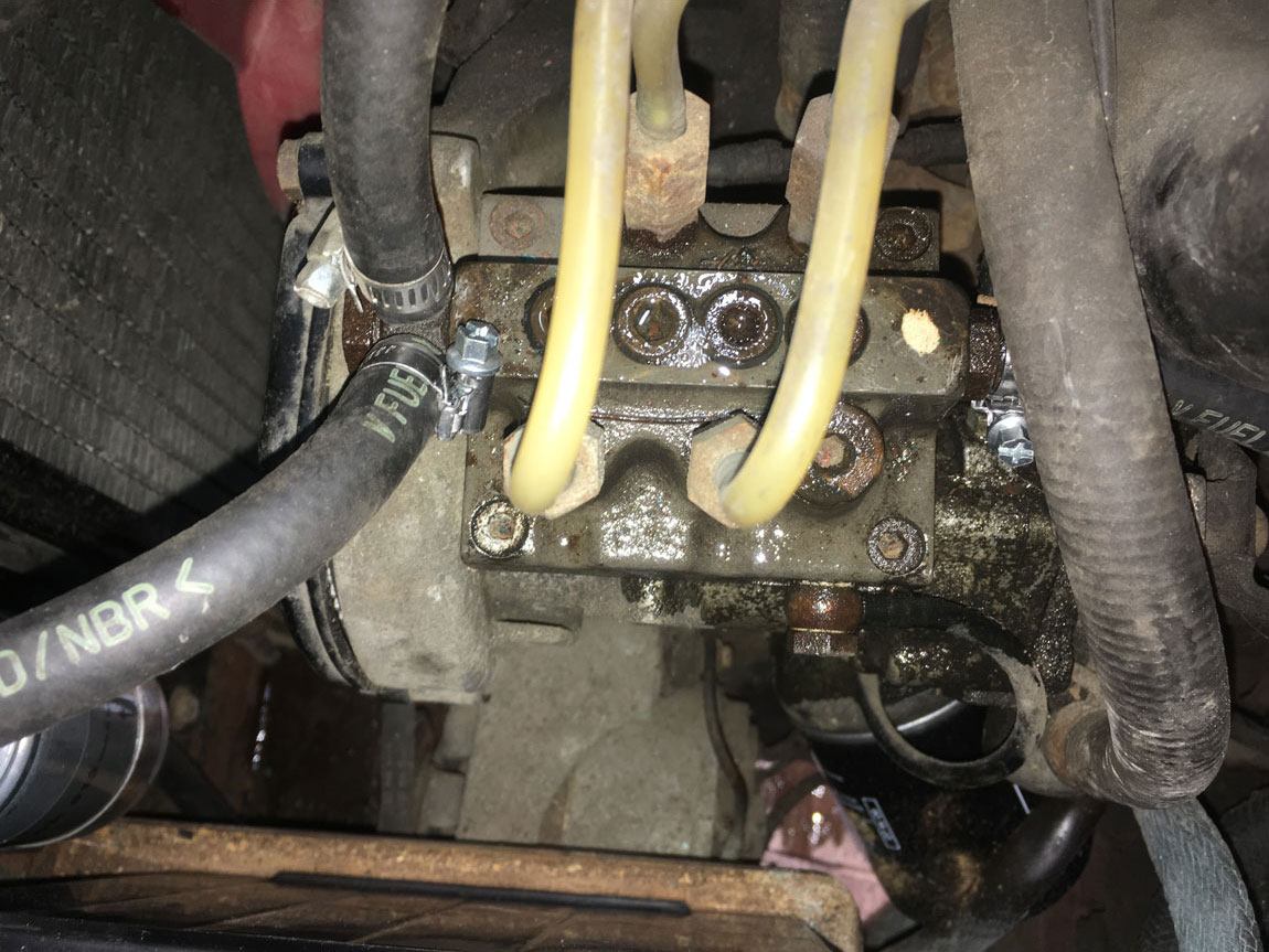 leaking 2002tii injection pump seals