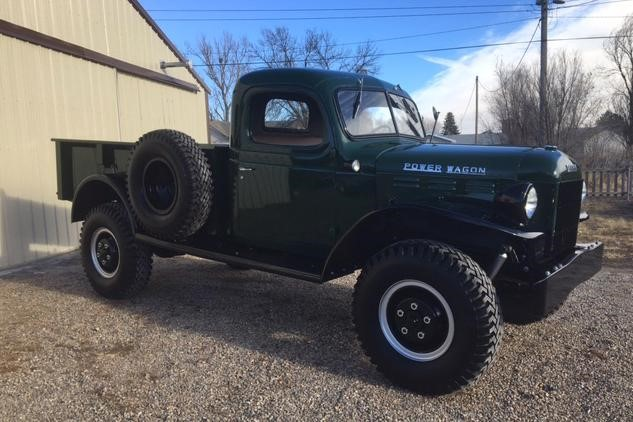 Vintage trucks were the hottest segment coming out of Scottsdale, with this 1948 Dodge Power Wagon selling for $99,000 at Barrett-Jackson.