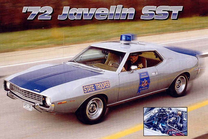 The Alabama State Police had a few of these AMC Javelins commissioned as pursuit vehicles