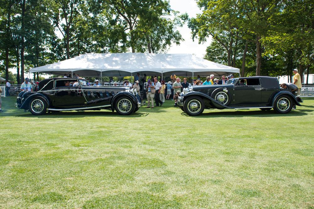 Best in Show winners 1924 Isotta Fraschini Tipo 8A and 1931 Stutz DV-32 Convertible Victoria (Josh Scott)