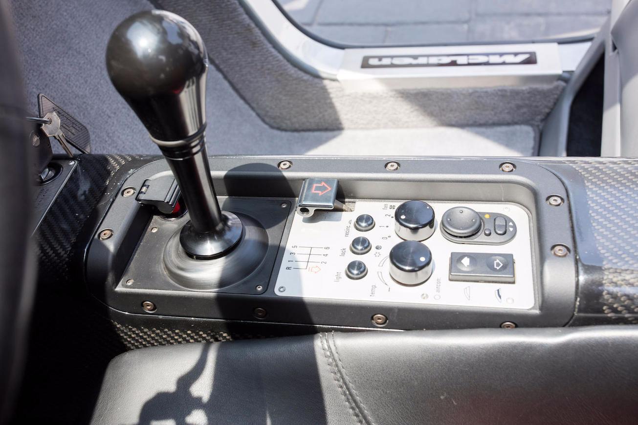 1995 McLaren F1 center console (Bonhams)