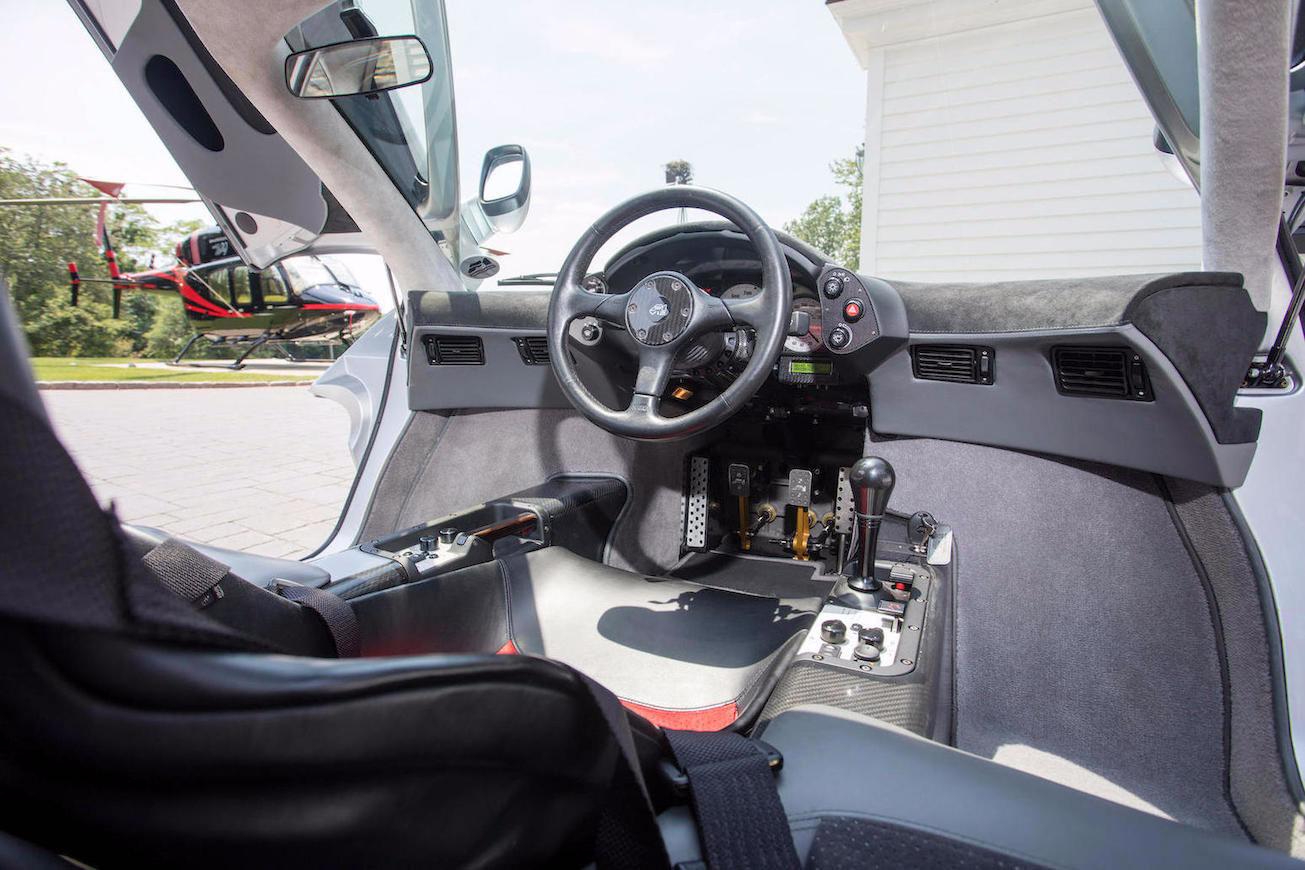 1995 McLaren F1 interior (Bonhams)