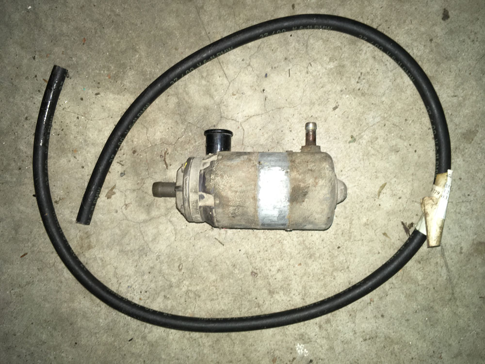 Fuel pump and a length of fuel line