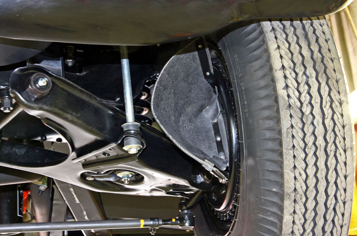 "Scoops known as ""elephant ears"" directed air to cool the large front finned drum brakes. The brakes were part of the RPO 684 Heavy Duty Racing Suspension package, which cost $780.10."
